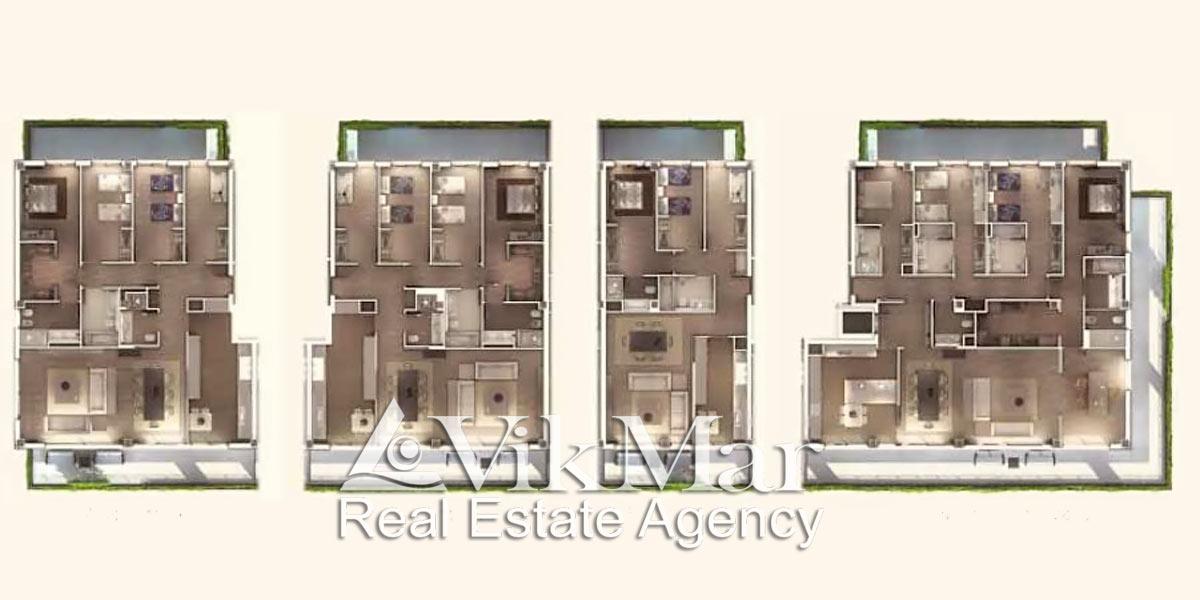 Планы квартир в жилом комплексе One Pedralbes House