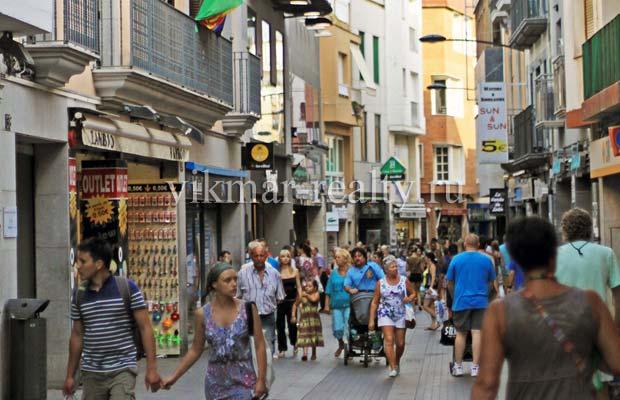 Улицы Старого города в Ллорет де Мар
