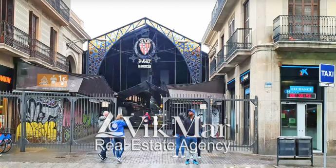 Рынок Бокерия в районе Эль Раваль в Барселоне