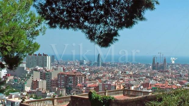 Панорама Грасия и Эшампль в Барселоне