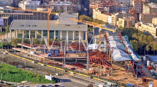 Строительная площадка в центре Барселоны