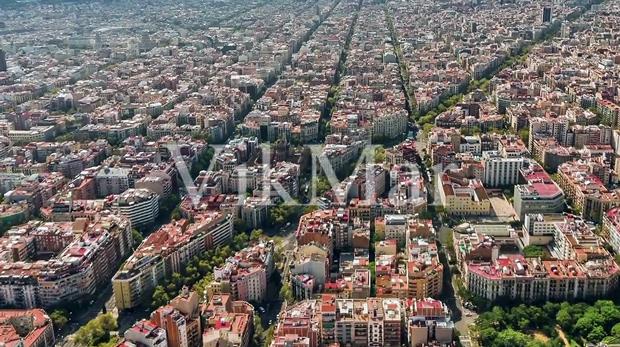 Панорама жилой застройки Барселоны