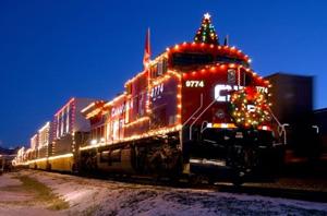 Рождественский поезд в Мадриде