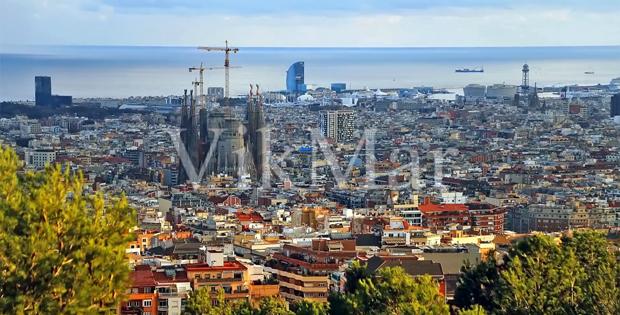 Панорама приморских районов Барселоны